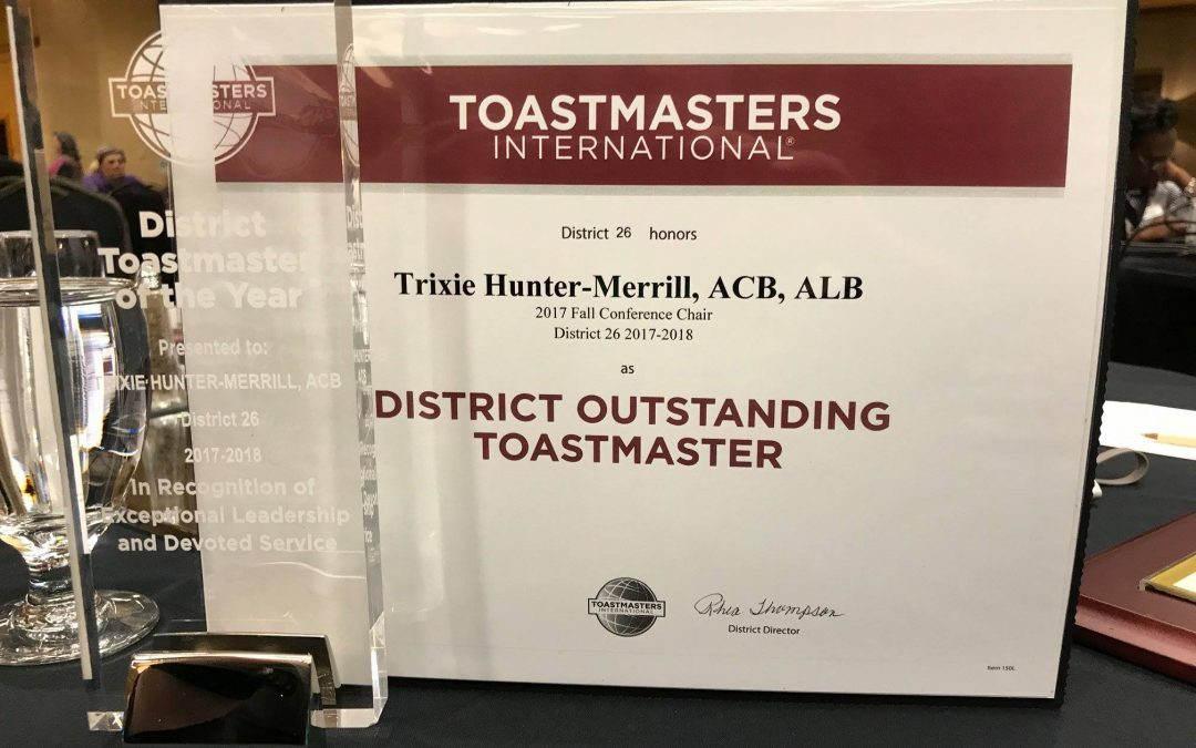 Winning Toastmaster of the Year 2017