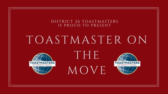 Toastmaster on the Move: David Rhodes, ALB, ACB